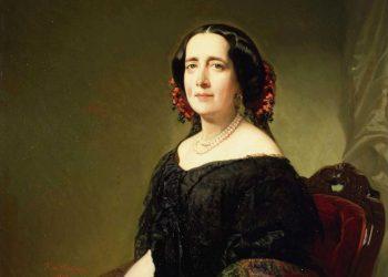 Retrato de Gertrudis Gómez de Avellaneda, 1857, por Federico de Madrazo y Kuntz. Colección del Museo Lázaro Galdiano.